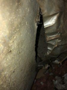 duct work gaps causing mold growth hvac