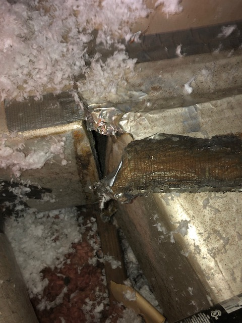 duct work gaps causing mold growth hvac